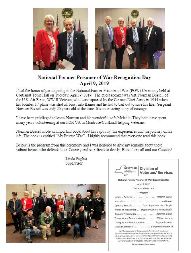 Pictures - National Former Prisoner of War Recognition Day April 9